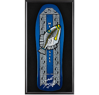 Bones Brigade® Shadowbox Mike McGill BLEM Skateboard Deck Signed by McGill