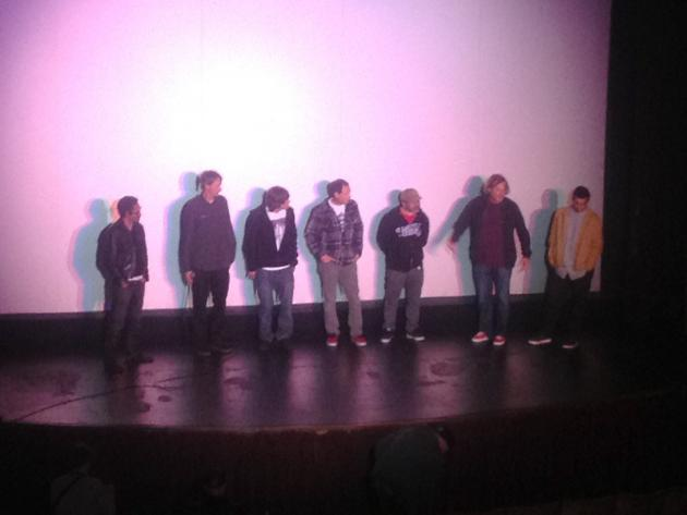 Q & A session at the Hawk screening