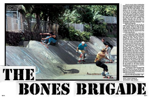 The Bones Brigade article the skateboard mag #98